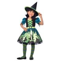 AMSCAN - Mavi Yeşil Cadı Kostümü