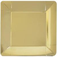 Parti Yıldızı - Metalik Gold Büyük Tabak