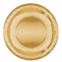 Parti Yıldızı - Metalik Gold Tabak 23 cm