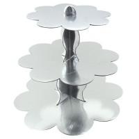 Parti Yıldızı - Metalik Gümüş Cup Cake Standı