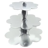 Parti Yıldızı - Metalik Gümüş Cupcake Standı