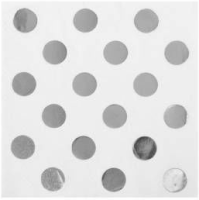 Parti Yıldızı - Metalik Gümüş Puanlı Peçete