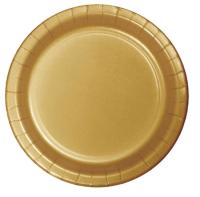 Parti Yıldızı - Altın Rengi Tabak 23 cm