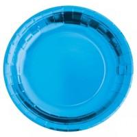 Parti Yıldızı - Metalize Koyu Mavi Tabak 23 cm