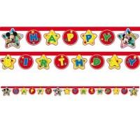 Parti Yıldızı - Mickey Playful Happy Birthday Harf Afiş
