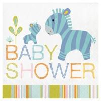 Parti Yıldızı - Mini Safari Partisi Baby Shower Peçete 16 Adet
