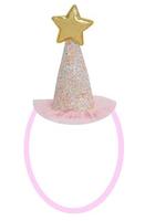 Parti Yıldızı - Mini Simli Pembe Şapka