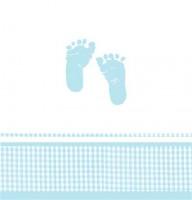 Parti Yıldızı - Minik Ayaklar Mavi Masa Örtüsü
