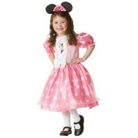 Parti Yıldızı - Minnie Lüks Çocuk Kostüm Pembe