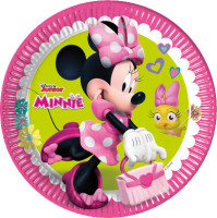 Parti Yıldızı - Minnie Mouse Helpers 8 li Karton Tabak