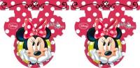 Parti Yıldızı - Minnie Mouse Kırmızı Bayrak Afiş