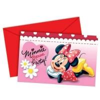 Parti Yıldızı - Minnie Mouse Papatyalar Davetiye