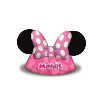 Parti Yıldızı - Minnie Mouse Pembe Şapka 6lı