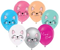 Parti Yıldızı - Miss Cat Paketli Latex Balon 6 Adet