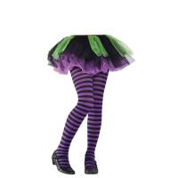 Parti Yıldızı - Mor Çizgili Çocuk Tayt / Çorap