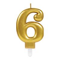 Parti Yıldızı - Mum - Altın 6 Rakamı Parlak