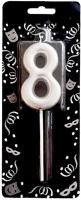 Parti Yıldızı - Mum - Gümüş 8 (4 cm)