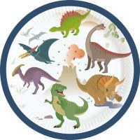 AMSCAN - Mutlu Dinozorlar Küçük Tabak 8 Adet