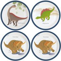 AMSCAN - Mutlu Dinozorlar Tabak 8 Adet