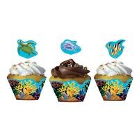 Parti Yıldızı - Okyanus Partisi 12 li Cup Cake Kılıfı
