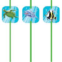 Parti Yıldızı - Okyanus Partisi 6 adet Pipet