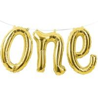 Parti Yıldızı - ONE Altın Renk Balondan Afiş