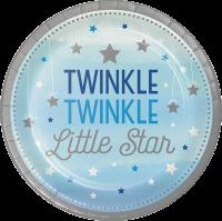 Parti Yıldızı - One Little Star Mavi 8 li Tabak
