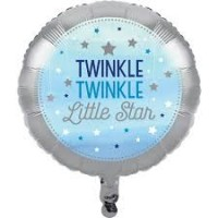 Parti Yıldızı - One Little Star Mavi Folyo Balon