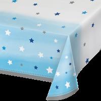 Parti Yıldızı - One Little Star Mavi Masa Örtüsü