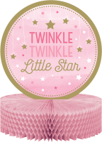 Parti Yıldızı - One Little Star Pembe Masa Orta Süsü