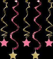 PD - One Little Star Pembe Süs Dalgası 5 Adet