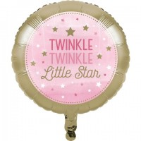 PD - One Little Star PembeFolyo Balon