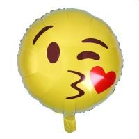 Parti Yıldızı - Öpücük Emoji Folyo Balon