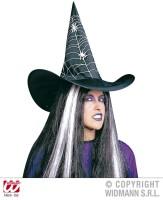 AMSCAN - Örümcek Ağ Dekorlu Cadı Şapkası