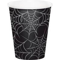 PD - Örümcek Ağı Siyah Bardak 8 Adet