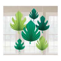 Parti Yıldızı - Palmiye Yaprakları Yelpaze Set 6 Adet