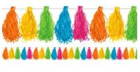 AMSCAN - Pastel Renklerde Püskül Süs 3m