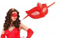 Parti Yıldızı - Payetli Kırmızı Maske