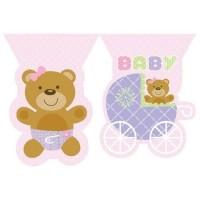 PD - Pembe Bebek Ayıcık Bayrak Afiş