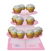 Parti Yıldızı - Pembe Bebek Ayıcık Cupcake Standı