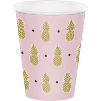 Parti Yıldızı - Pineapple Gold Bardak 8 Adet
