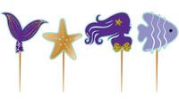 Parti Yıldızı - Pırıltılı Deniz Kızı Lisanslı Kürdan 10 lu