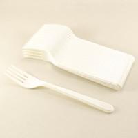 Parti Yıldızı - Plastik Çatal Beyaz Renk 25 Adet
