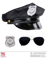Polis Kostüm Seti şapka Gözlük Rozet Halloween Kostümleri Parti