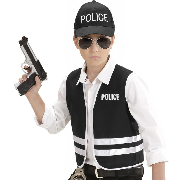 Polis Yeleği Ve şapkası Erkek çocuk Kostümleri Parti Yıldızı