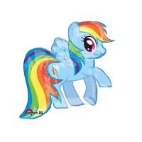 Parti Yıldızı - SShape Pony Rainbow Dash Folyo Balon