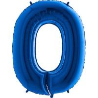Parti Yıldızı - Rakam Balon 0 Rakamı Mavi - 100 cm