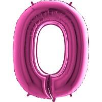 Parti Yıldızı - Rakam Balon 0 Rakamı Pembe - 100 cm