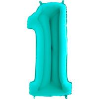 Grabo - Rakam Balon 1 Rakamı Tiffany - 100 cm