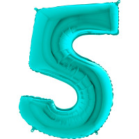 GRABO - Rakam Balon 5 Rakamı Tiffany - 100 cm